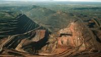 Iron ore mine in Australia