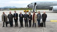 "Colombia""s government team prepare to set off to Oslo"