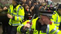 Police scuffles at Oxford Street