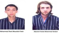 Handout photo of two of the 11 suspects detained in Jordan, 21 October 2012