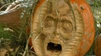 Pumpkin sculpture