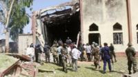 Site of church blast