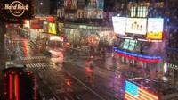 A deserted Times Square
