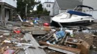 A neighbourhood wrecked by superstorm Sandy