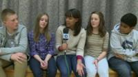 Leah talks to Mormon children