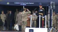 Medals ceremony for Royal Anglians