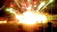 Fireworks go off at once