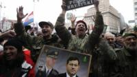 Croats celebrate appeals ruling in Zagreb. Photo: 16 November 2012