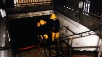 Firefighters at Tube station