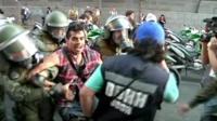 Protests in Santiago.