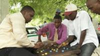 Tanzanians play chess
