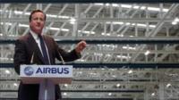 David Cameron at Airbus