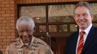 Nelson Mandela and Tony Blair