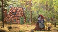 Hansel and Gretel fairytale exhibit
