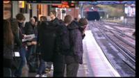 Rail passengers on platform