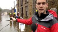 Reporter Andrew Plant in Helston