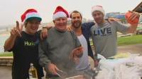 A Christmas barbeque at Bondi Beach in Sydney, Australia