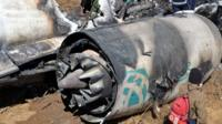 Part of the crashed Air Bagan passenger plane in Burma