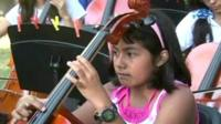 Young Mexican musician