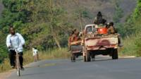 CAR troops on the road from Sibut. 29 Dec 2012