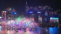 Fireworks in Hong Kong