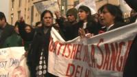 Protest in Delhi following gang-rape