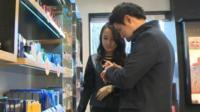 Korean man in shop