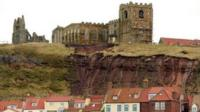Landslip at St Mary's Church, Whitby
