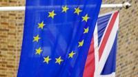 EU flag and Union Flag
