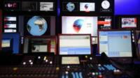 Behind the scenes at the new BBC Persian television channel during preparations for its launch