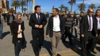 David Cameron in Martyr's Square in Libya