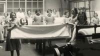 Women in workhouse