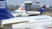 American Airlines and US Airways aeroplanes