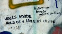 Peace wall graffiti