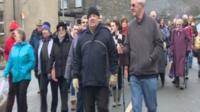 The Blaenau Ffestiniog hospital protest