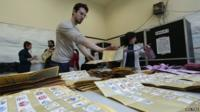 Votes counted in Italy