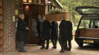 Una Crown's coffin arrives at King's Lynn Crematorium