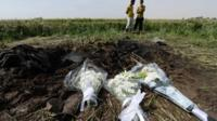 Flowers laid at Egypt hot air balloon crash site