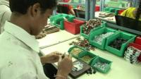 Worker in Indian factory