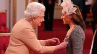 The Queen awards Jessica Ennis a CBE