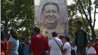Supporters of Hugo Chavez outside hospital