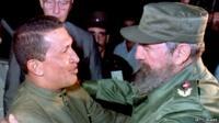 Hugo Chavez and Fidel Castro - file photograph