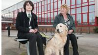 Guide dog Morris and friends