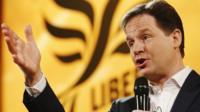 Liberal Democrat party leader Nick Clegg