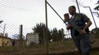 Prison guard at Pavoncito prison in Guatemala