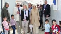 Prince Charles and Camilla Duchess of Cornwall with Syrian refugees