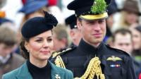 The Duchess of Cambridge and her husband Prince William