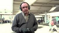 David Reid wearing Bluetooth earmuffs