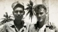 WWII photo of Maharadige and Mulligan