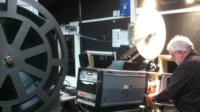 Theatr Colwyn's old projector